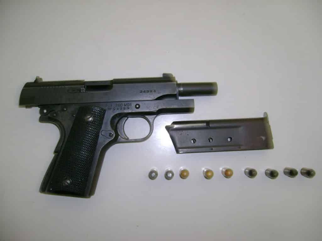 Arma foi apreendida. Foto: Assessoria da PM.