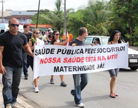 População participou do manifesto. Foto: Pompeia Castro.
