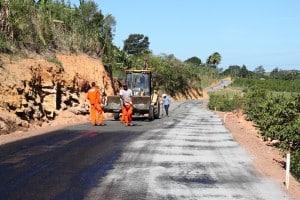 Estrada rural que liga a localidade de Boa Esperança à BR 101