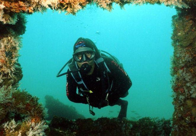 Mergulho é opção de lazer. Foto: Divulgação.