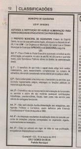 Publicação da Gazeta de hoje.