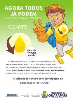 Prefeitura convida a comunidade para participar do projeto. Foto: Divulgação.
