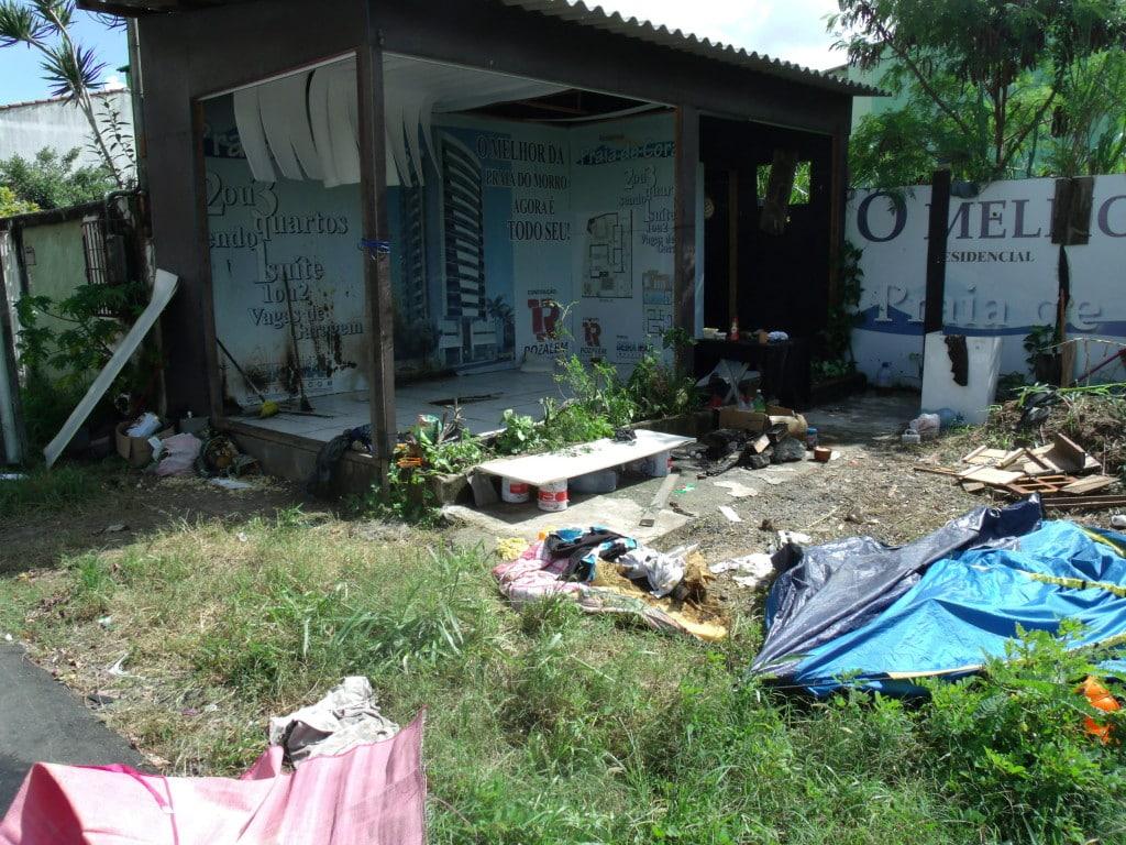 Local onde eles foram atacados. Foto: Rosimara Marinho.