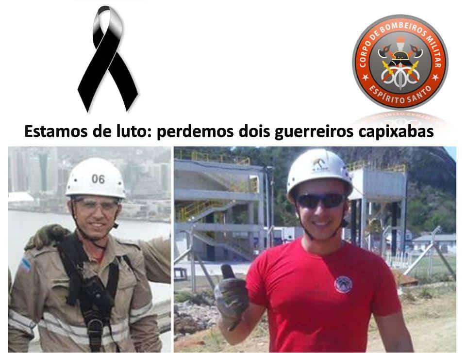 Bombeiros serão enterrados hoje. Foto: Divulgação/Facebook.