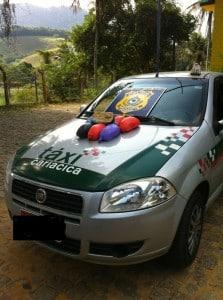 PRF desconfiou do Táxi. Foto PRF.