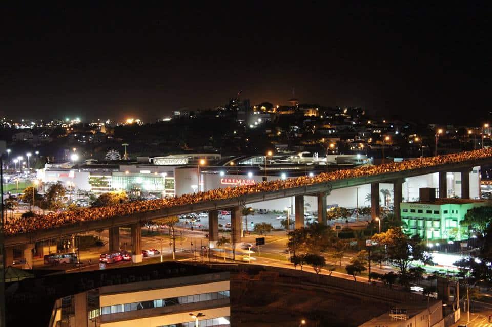 Vitória foi uma das capitais que participou do protesto na segunda-feira (17). Foto: Gustavo De Oliveira Gianordoli.