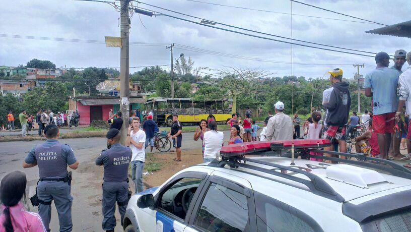 Policia já está no local: Foto Thiago Amaral/Vent