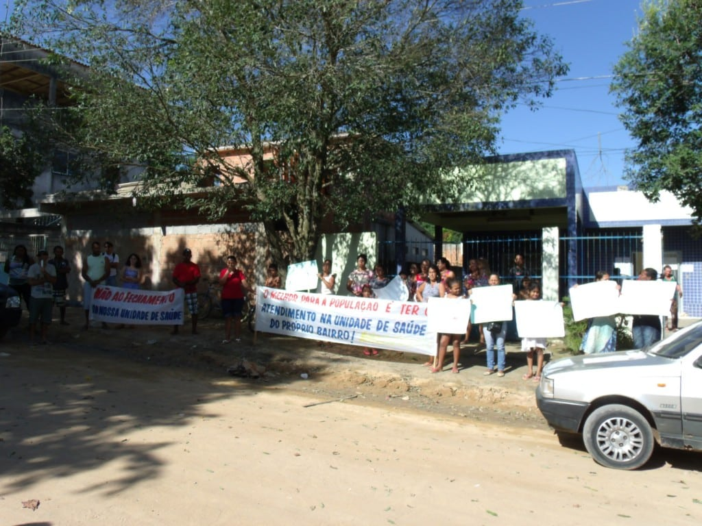 População ficou insatisfeita com o possível fechamento da US. Foto: Rosimara Marinho.
