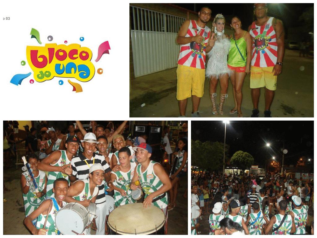 Bloco do Una vem com Bateria de Escola de Samba e Pagode