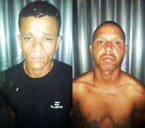 Os detidos são: Fabio dos Santos de 35 anos e Clóvis Alves de Oliveira Filho de 24 anos