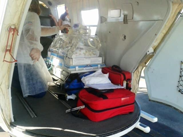 O bebe já está na Utin do hospital de Cachoeiro de Itapemirim.