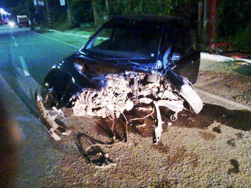 Testemunhas informaram que o condutor tentou frear, mas não conseguiu.