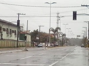 semáforo em Nova Guarapari