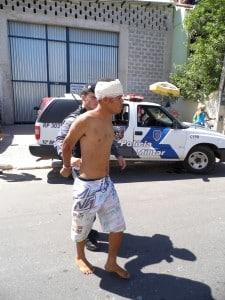 Depois de sair da Upa, Luan foi conduzido para o DPJ de Guarapari. Foto: João Thomazelli/Portal 27
