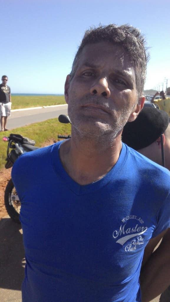 Paulo César foi detido depois de tentar assaltar um taxista. Foto: Divulgação
