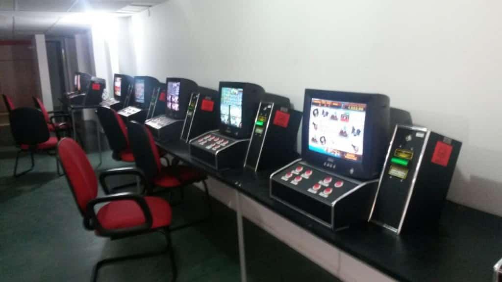 Dez máquinas foram apreendidas no Centro de Guarapari. Foto: Divulgação