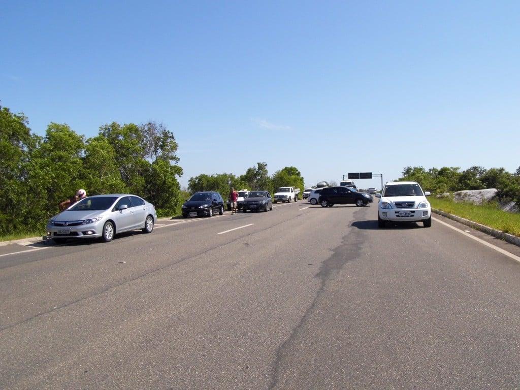 Um boato de arrastão causou pânico entre os motoristas. Foto: João Thomazelli/Portal 27