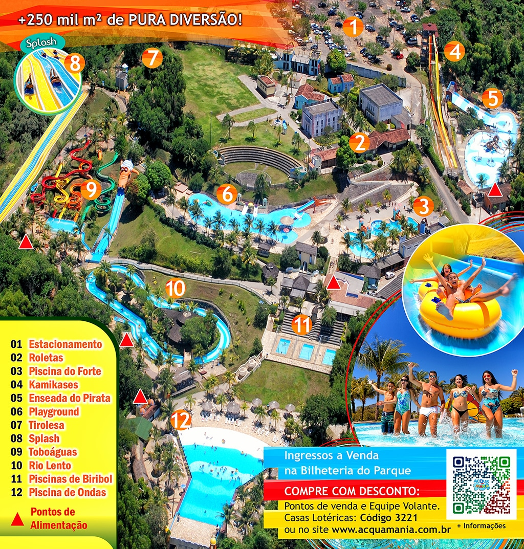 Mapa do Parque Aquático  Acquamania