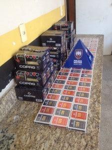 As caixas de baralho foram apreendidas em Muquiçaba. Foto: Divulgação