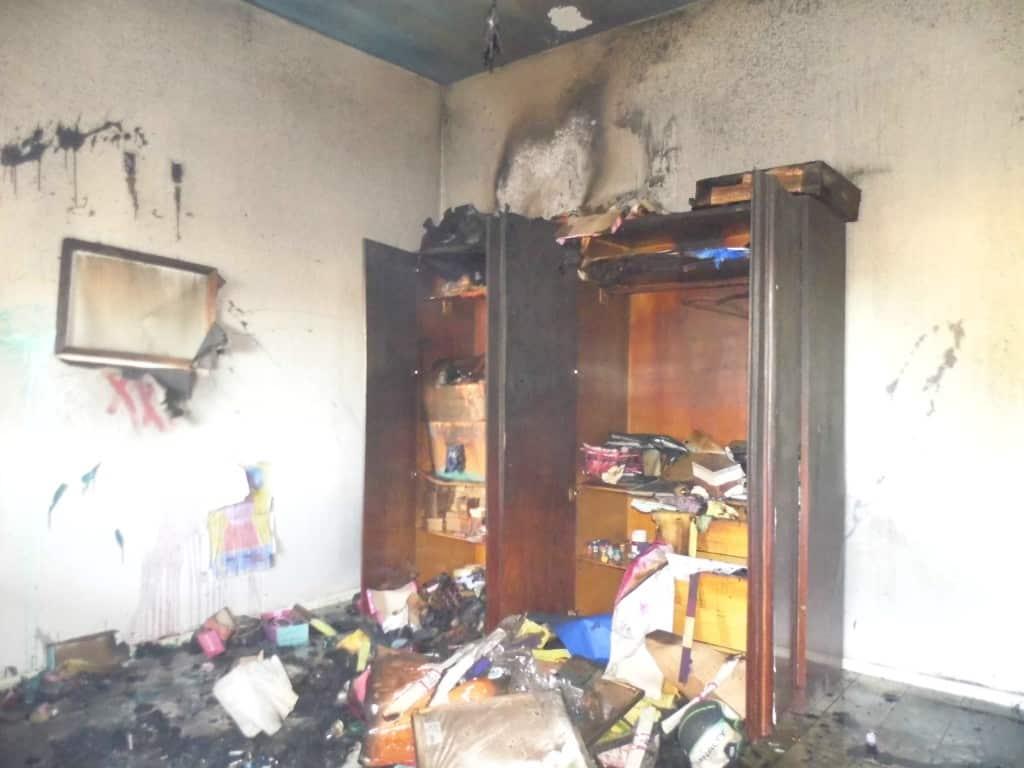 A sala onde funcionava a administração do Peti ficou destruída. Foto: João Thomazelli/Portal 27