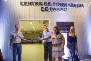 A inauguração conto com representantes da Samarco, da comunidade  e do prefeito de Anchieta. Foto: Divulgação