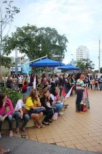 Dezenas de professores participaram da assembleia na tarde de hoje. Foto: João Thomazelli/Portal 27
