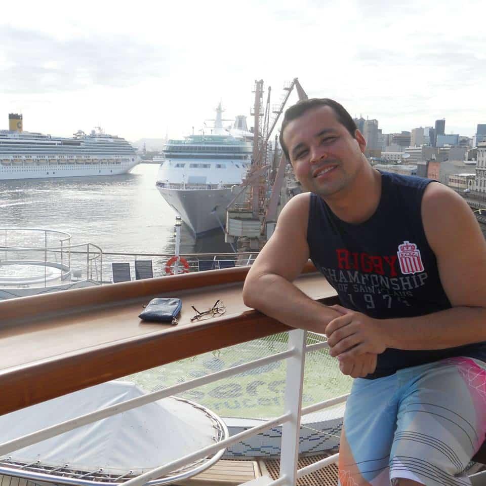Adriano estava de férias na Chapada Diamantina, na Bahia. Foto: Perfil Facebook