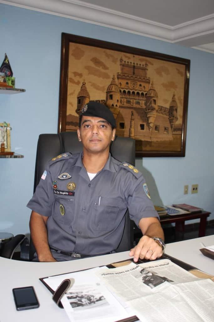 Tenente coronel Rogério Maciel Barcellos. Foto: João Thomazelli/Portal 27