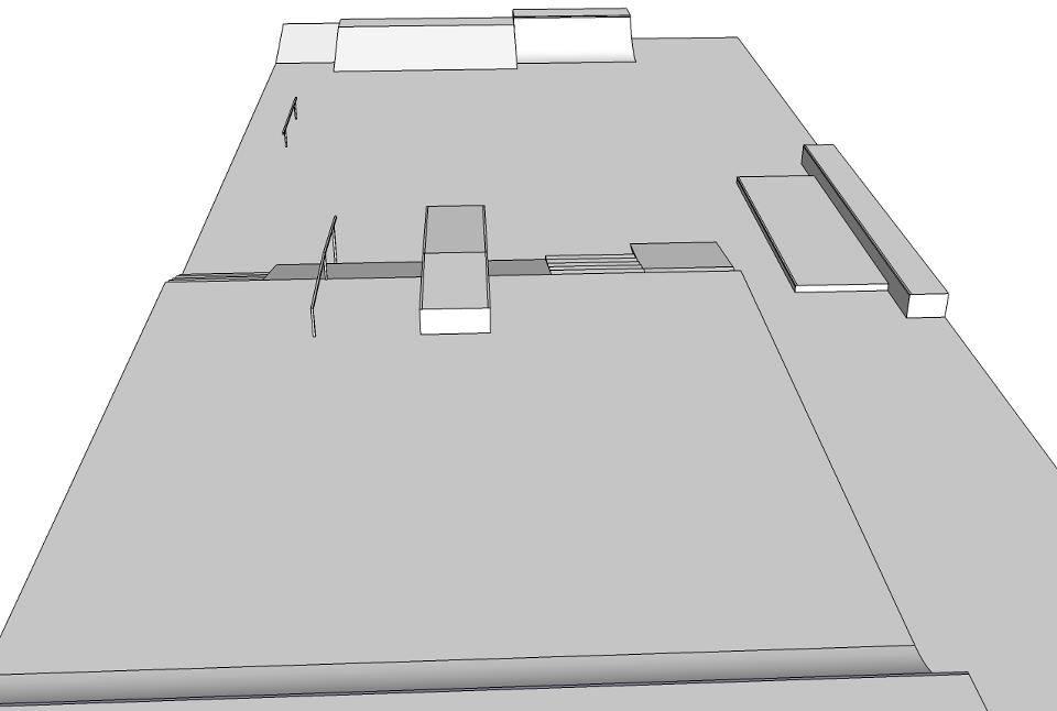 Projeto da pista feita com o auxílio dos skatistas. Foto: Divulgação
