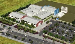 Perspectiva do novo Centro Integrado Sesi/Senai/IEL de Anchieta previsto para ser inaugurado em outubro