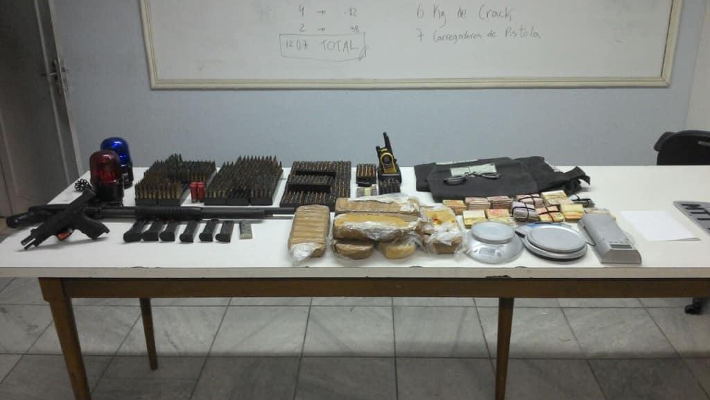 material apreendido na semana passada em Vila Velha pela polícia. Fotos; Divulgação