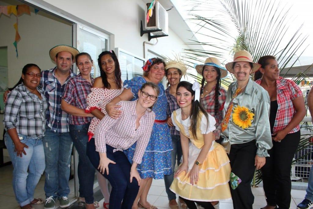 A equipe da Unidade de Saúde do Bairro Bela Vista foi quem organizou a festa. Foto: João Thomazelli/Portal 27