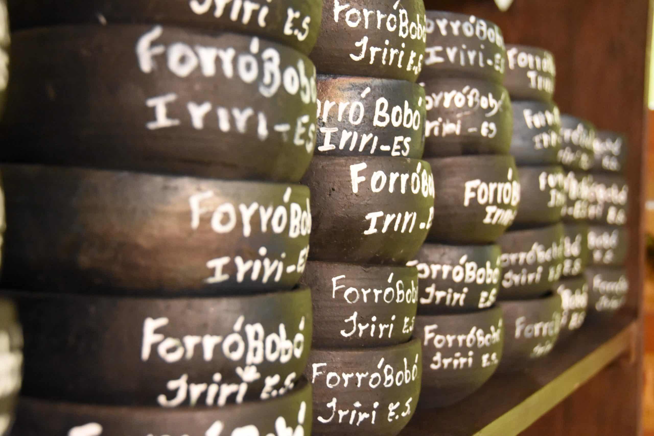 Quem compra o bobó, ganha uma panela de barro. Foto: Acom/Anchieta