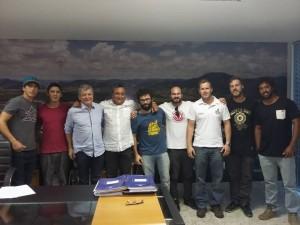 Um grupo de skatistas foi recebido pelo prefeito Orly Gomes esta semana. Foto: Daltin Canals