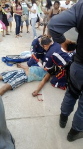 O pescador chegou a ser socorrido, mas não resistiu aos ferimentos e morreu. Foto: Israel Oliveira
