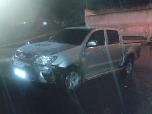 A caminhonete foi roubada pela manhã na Praia do Morro e recuperada à noite. Foto: divulgação