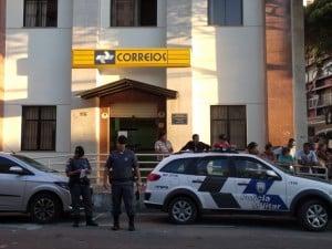 A ação da Polícia Militar foi rápida e um assaltante foi preso. Foto: João Thomazelli/Portal 27