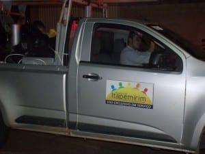 A caminhonete da Prefeitura de Itapemirim era usada para transportar vários quilos de maconha na carroceria. Foto: João Thomazelli/Portal 27