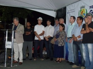 A cerimônia de inauguração foi realizada na aldeia de Perocão. Foto: João Thomazelli/Portal 27