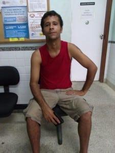 Jadilson da Silva André deu de cara com o ladrão fumando maconha na praia. foto: João Thomazelli/Portal 27