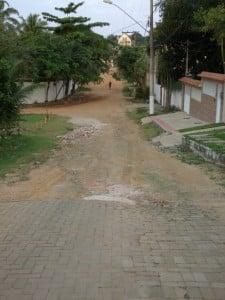Rua Topázio, que servirá de rota alternativa durante o evento. Foto: João Thomazelli/Portal 27