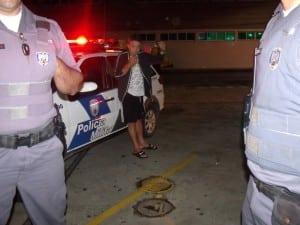 O motorista estava visivelmente embriagado. Foto: João Thomazelli/Portal 27