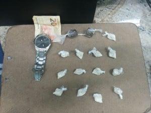 Cocaína apreendida no bairro Aeroporto. Foto: divulgação PM