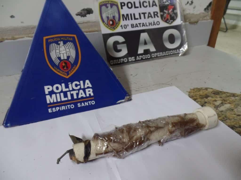 a bomba seria usada por bandidos do São Gabriel contra integrantes de uma quadrilha do Adalberto. Foto: João Thomazelli/Portal 27