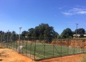 Campo construído pelo Governo do Estado dentro da área que era da prefeitura. Obra custou R$ 420 mil. Foto: divulgação