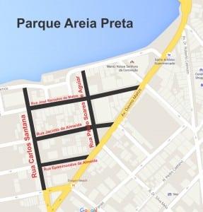 Cinco ruas do Parque Areia Preta também vão ter estacionamento pago. Divulgação VGN