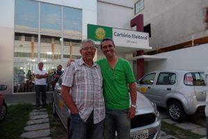 Manoel Couto (PT) e Franz Tristão (PTN) também estiveram no cartório na tarde de hoje. Foto: João Thomazelli/Portal 27